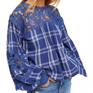 New Free People Darling Diana Lace Top